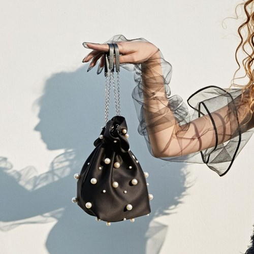 ALICE PEARL POUCH BAG MINI_BLACK