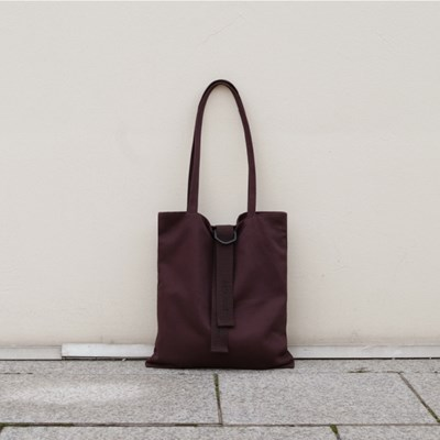 classy cotton bag - 브라운
