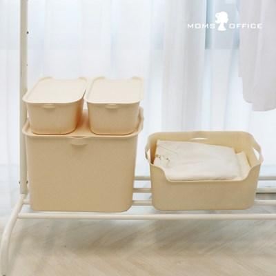[티볼리] 컬러 수납박스 대1+중1개+소2개 세트 (뚜껑포함)