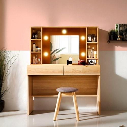 파로마 이브 LED조명 화장대(의자별매)