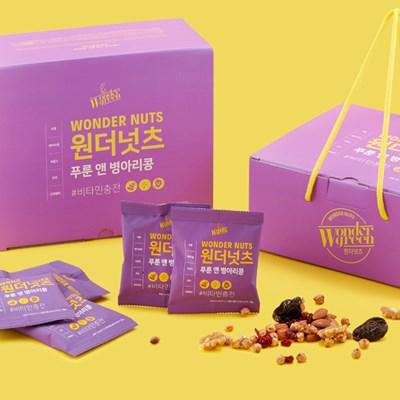 비타민충전! 원더넛츠 푸룬앤병아리콩 1Box(28팩)_(500156)