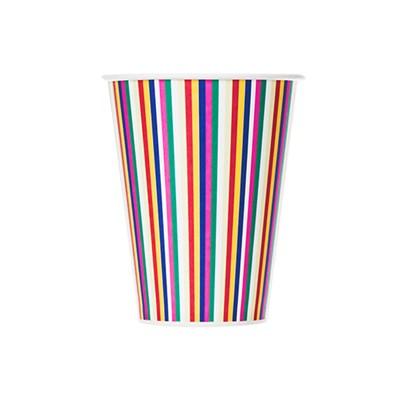 색동 스트라이프 종이컵 (10p)