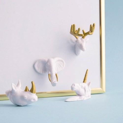 애니멀 헤드 메모 자석 / Animal Head Magnets