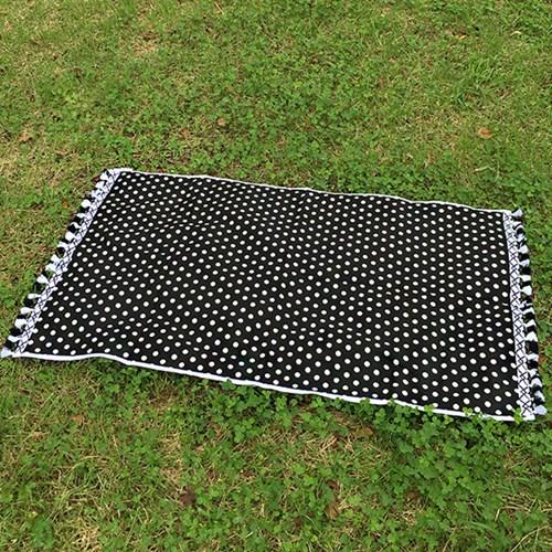 Black Dot- Beach Towel