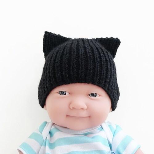 니팅키트- 아기 고양이모자