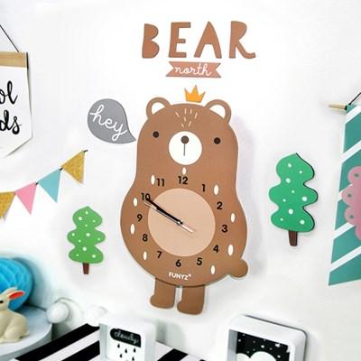 [퍼니즈]어썸프렌즈(곰)/움직이는 추시계/12종/무소음벽시계
