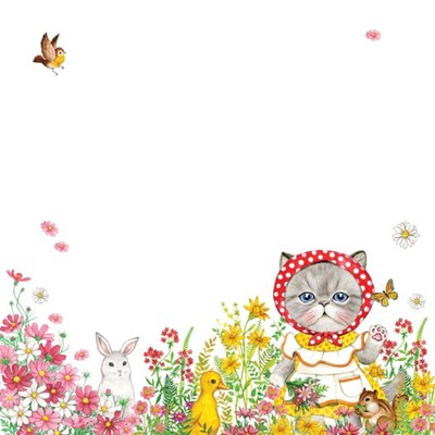 메모지 - 꽃밭위의 루미