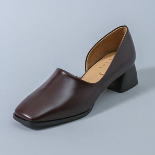 HS1709 Square Pumps_Red Brown