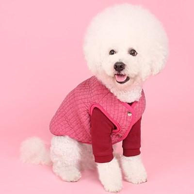 코지패딩조끼(pink) cozy padding vest
