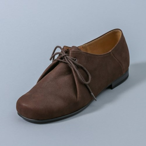HS1708 Pouch Nubuck Shoes_Brown