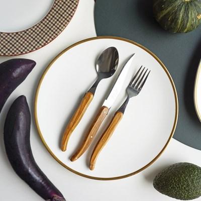 장네론 라귀올 올리브 테이블 양식기 세트(3p)