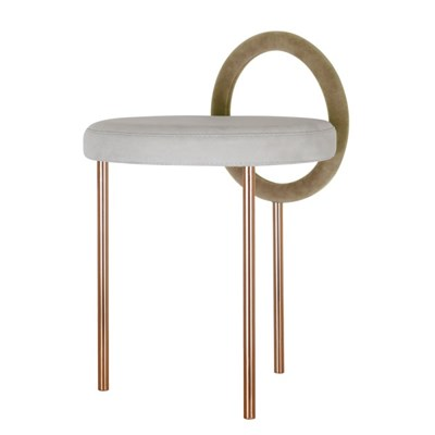 Hoop Stool - Brown Gold