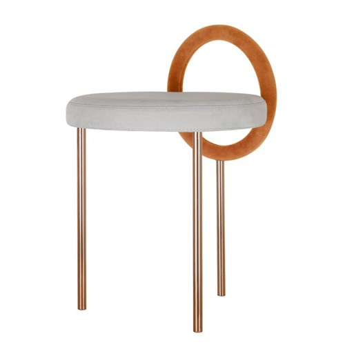 Hoop Stool - Orange