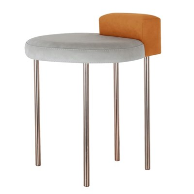 Box Stool - Orange