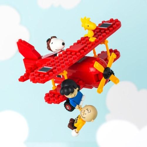 피넛츠(스누피) 블록 Flying Ace 빨간 비행기