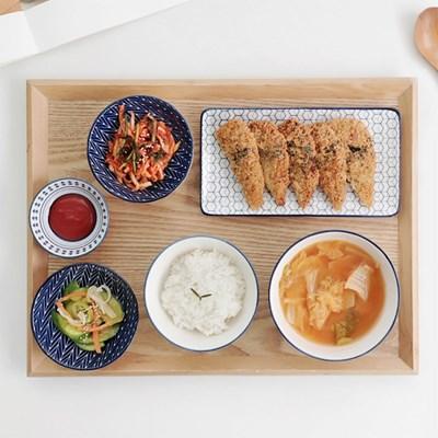 히츠키코보 혼밥세트 1인 한식기 그릇세트 6P-사키 사각