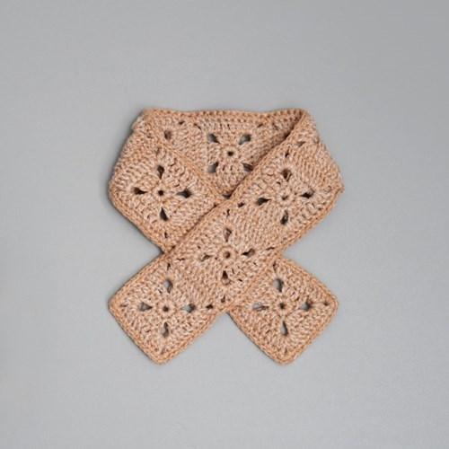 클래식 모티브 미니목도리 - 손뜨개 KIT