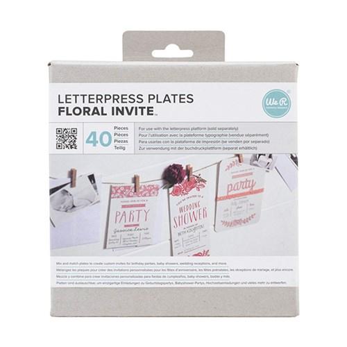 레터프레스 플레이트-Floral Invite