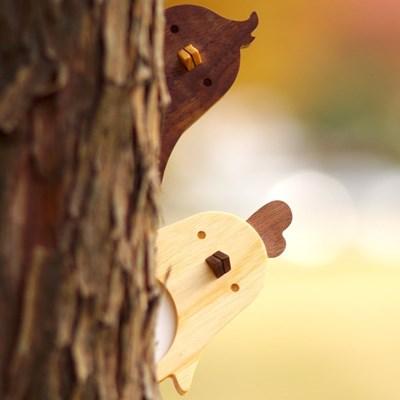 아기새 나무 도어사인 편지 배달부