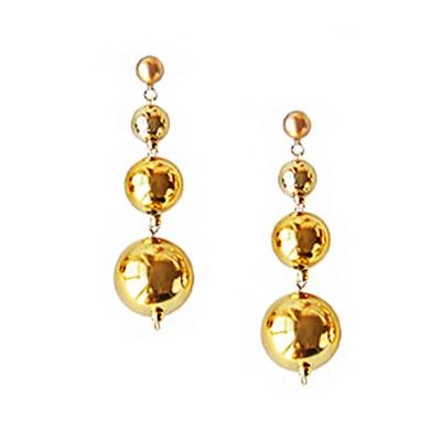 [하우즈쉬나우] Merry Gold Shine Ball Earrings (Long)