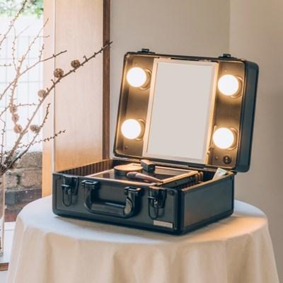 [라쏨] LED 조명 미니화장대 마이러블리데이 블랙