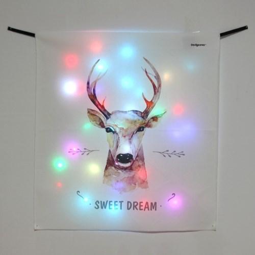 스윗드림 디어 LED 패브릭 액자 포스터 커튼 벽트리 (58x66cm)