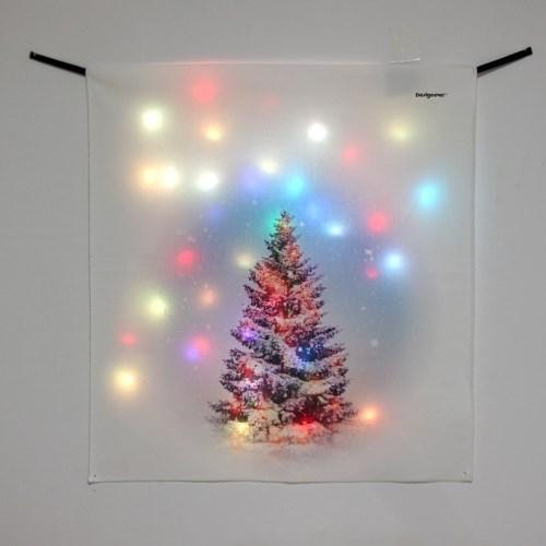 전구트리 LED 패브릭 액자 포스터 커튼 벽트리 (58x66cm)
