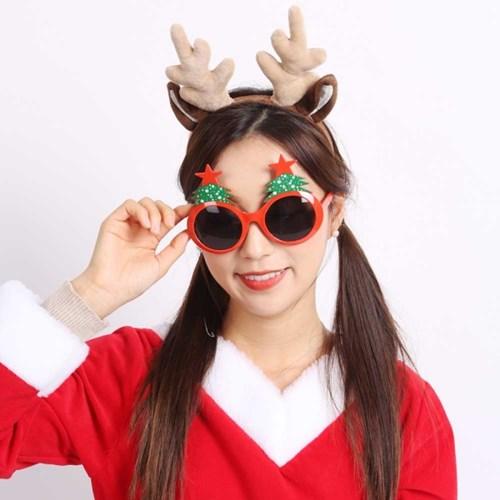 크리스마스 트리안경(레드)