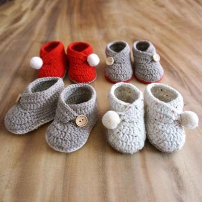 1+1 램스울 아기 신발 세트 DIY