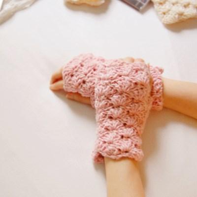 [하우즈쉬나우] 향긋한 딸기라떼 앙고라모헤어 핸드워머 (Pink)
