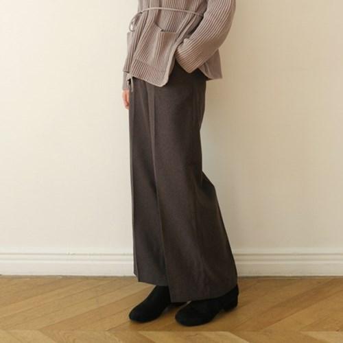 Woolen straight fit slacks