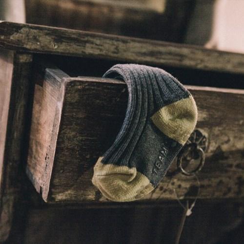 한겨울 배색 골지 타이즈 니삭-배색골지knee socks