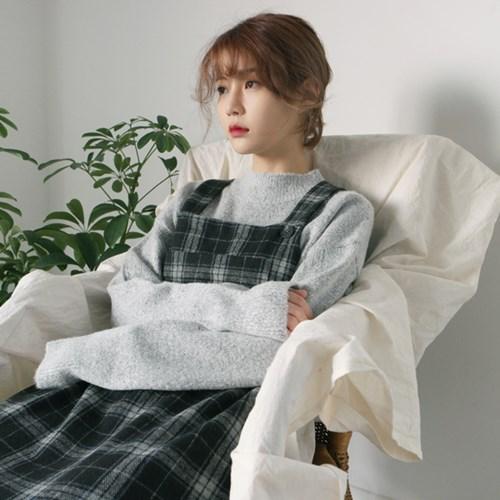 Half-neck span knit