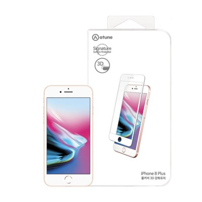 아이폰8플러스 풀커버 강화유리 : 화이트
