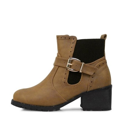 kami et muse  Wide elastic band punching ankle boots_KM17w195