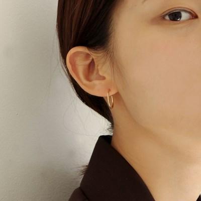 [2컬러]silver open hoop earring