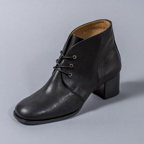 [흰]HS1713 Lace-up Ankle Boots_Black
