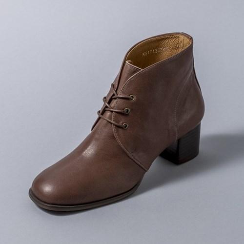 [흰]HS1713 Lace-up Ankle Boots_Brown
