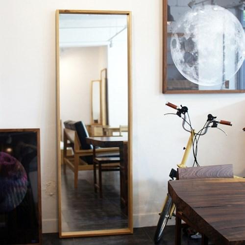 urbanworks modern oak mirror