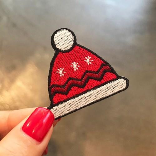 빨간 털모자 크리스마스 와펜스티커