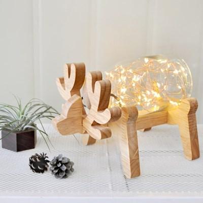 원목 사슴 LED조명