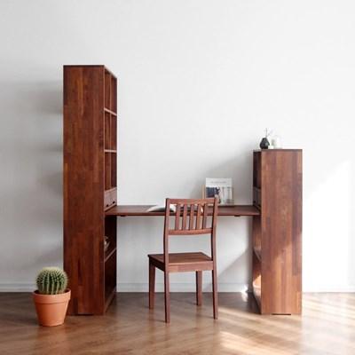 [크림슨] A형 트윈책상/테이블 세트
