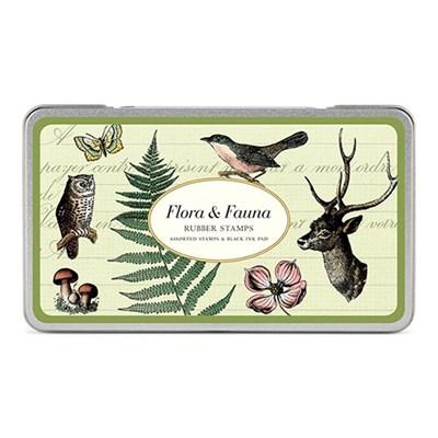 카발리니 빈티지 스탬프 세트-Flora & Fauna