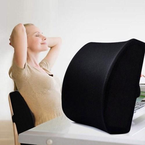 기대볼까 의자등받이 쿠션 (블랙색상)