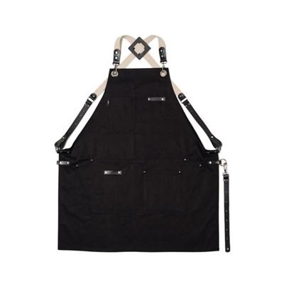 [카본블랙나인] 데님앞치마 JP-03 BLACK