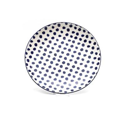 플레이트 도트 블루 Ø20cm