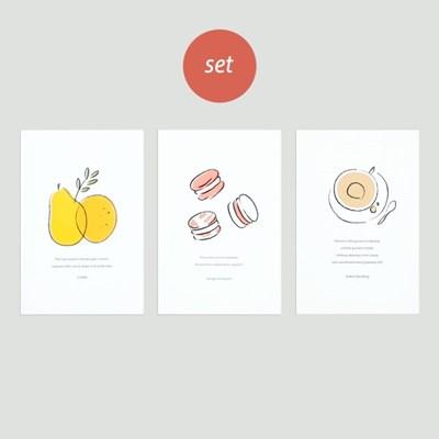 ordinary postcard - 3 type set