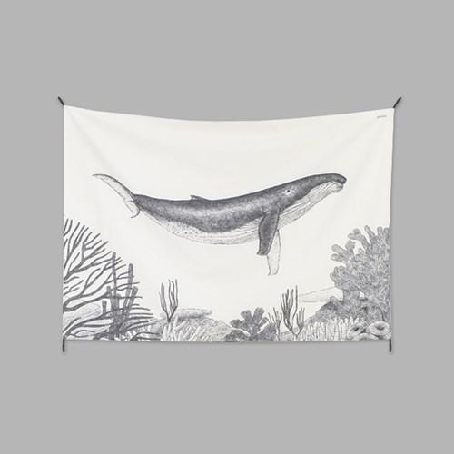 고래 패브릭 포스터 / 가리개 커튼