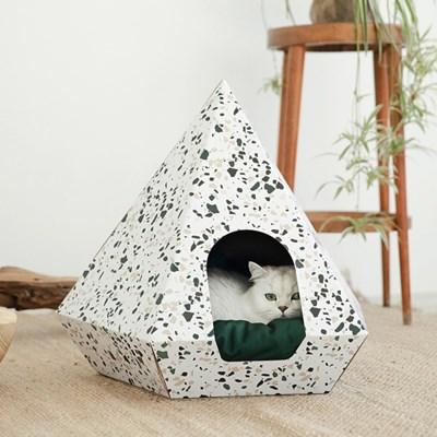 H&B Cat Diamond Terazzo White