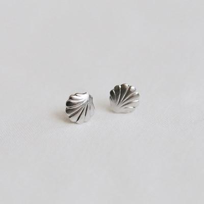 mini clam earrings (2colors)
